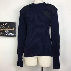 Sweaters - Navy Blue The Woolly Pully Sweater Small